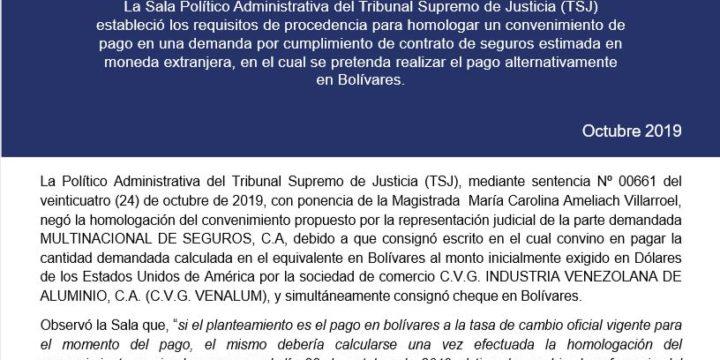 Boletin jurisprudencial octubre 2019