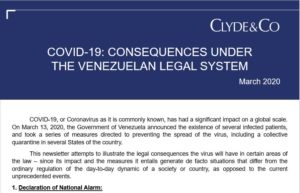 COVID-19 CONSEQUENCES UNDER THE VENEZUELAN LEGAL SYSTEM